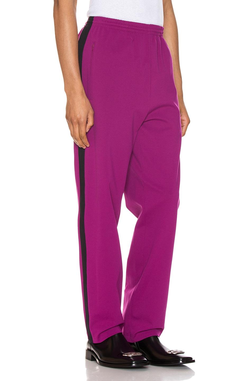 Image 3 of Balenciaga Tracksuit Pants in Grape & Black