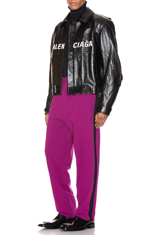 Image 5 of Balenciaga Tracksuit Pants in Grape & Black