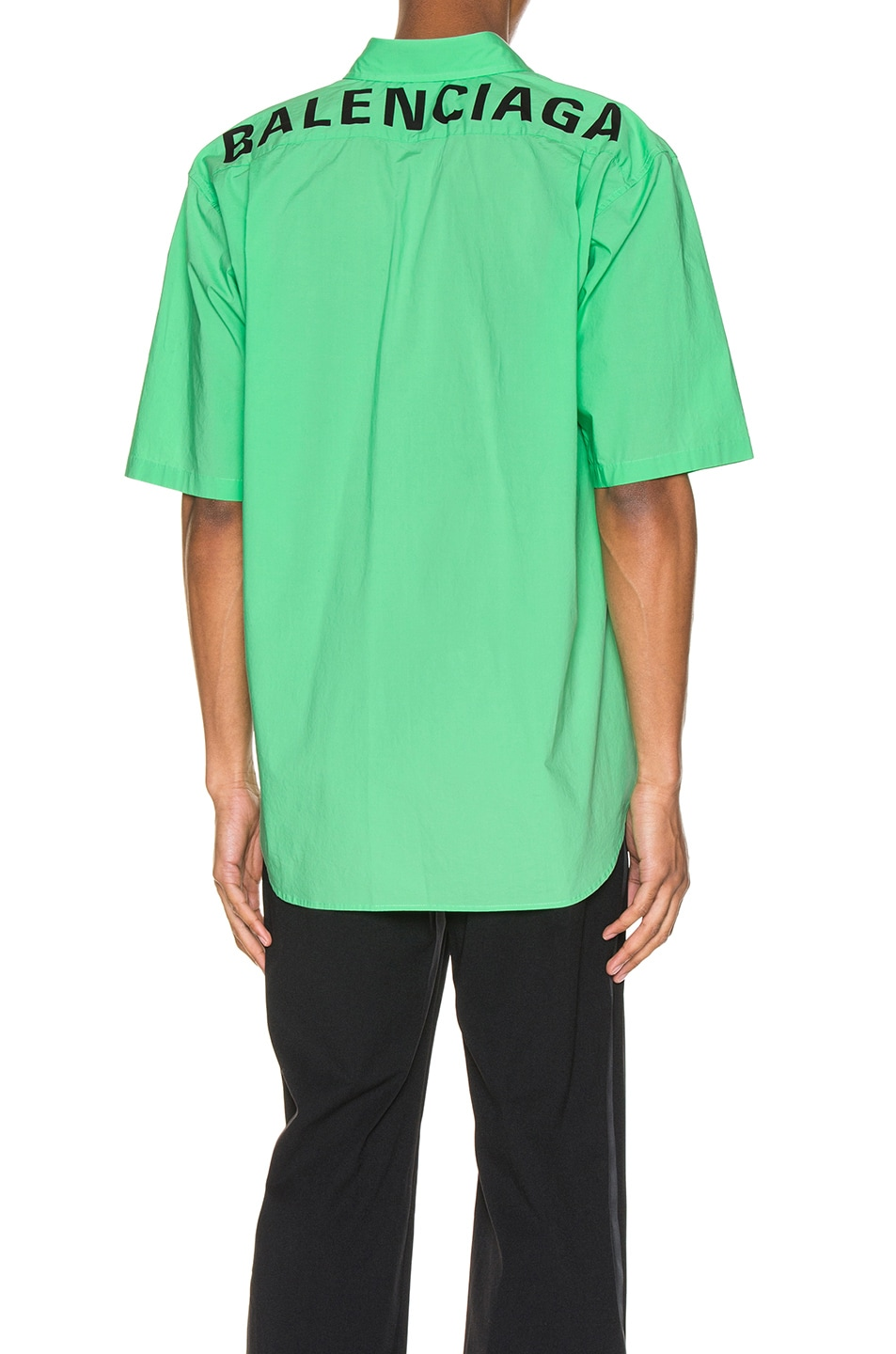 Image 1 of Balenciaga Short Sleeve Shirt in Green