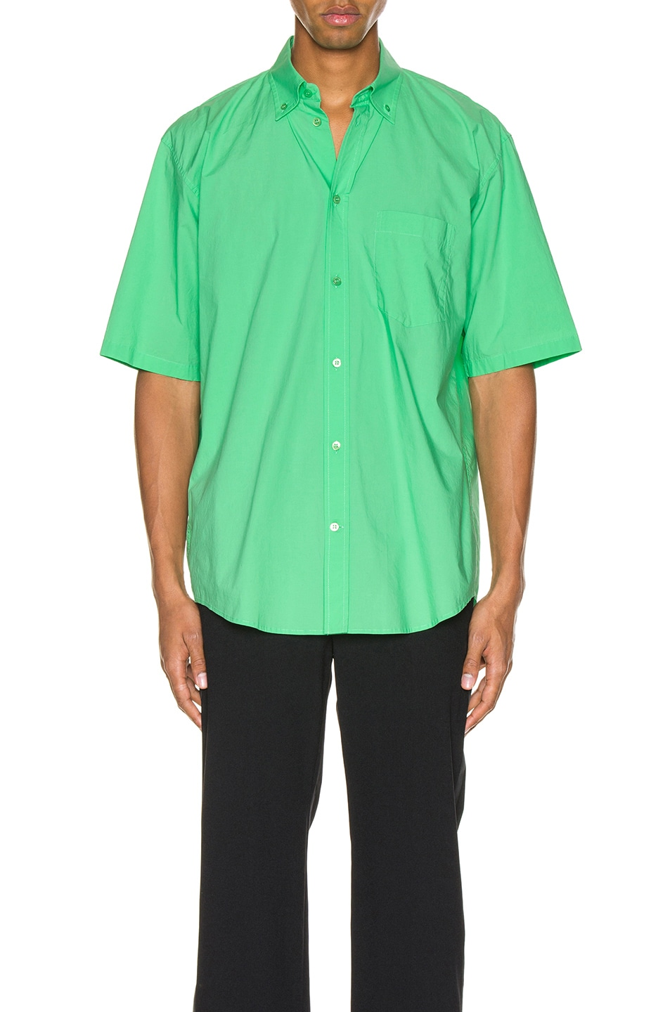 Image 2 of Balenciaga Short Sleeve Shirt in Green