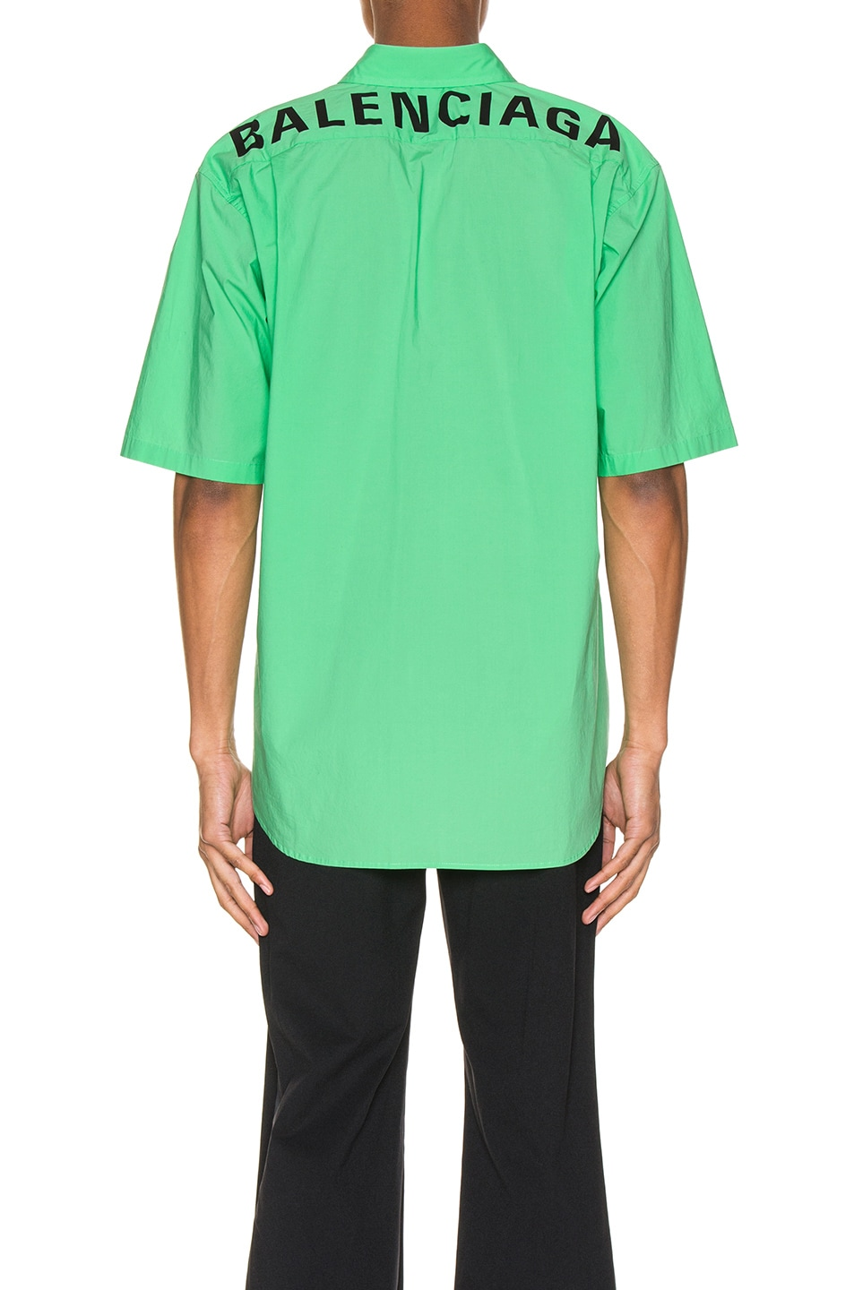 Image 4 of Balenciaga Short Sleeve Shirt in Green