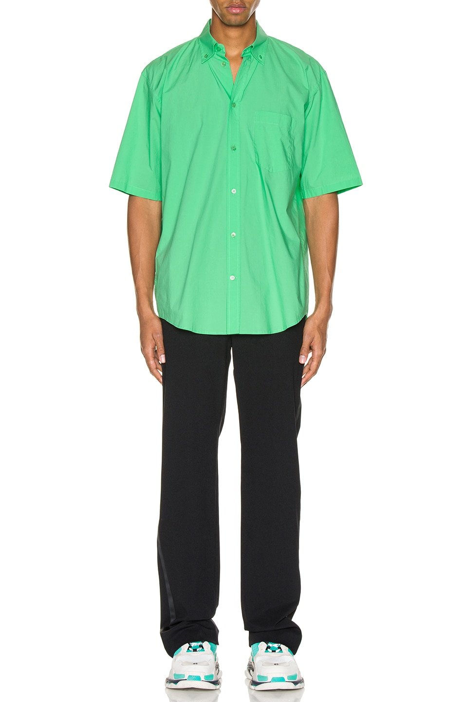 Image 5 of Balenciaga Short Sleeve Shirt in Green