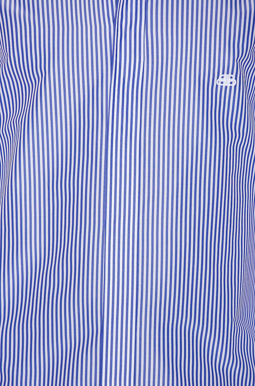 Image 5 of Balenciaga Stripe Poplin Long Sleeve Shirt in Blue & White