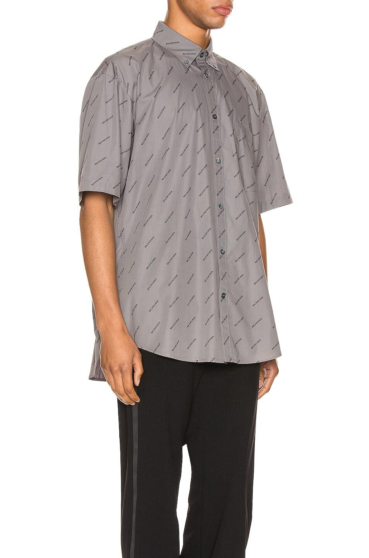 Image 2 of Balenciaga Short Sleeve Normal Fit Shirt in Grey & Black