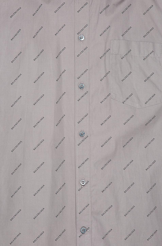 Image 5 of Balenciaga Short Sleeve Normal Fit Shirt in Grey & Black