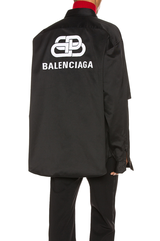 Image 1 of Balenciaga Double Sleeve Shirt in Black
