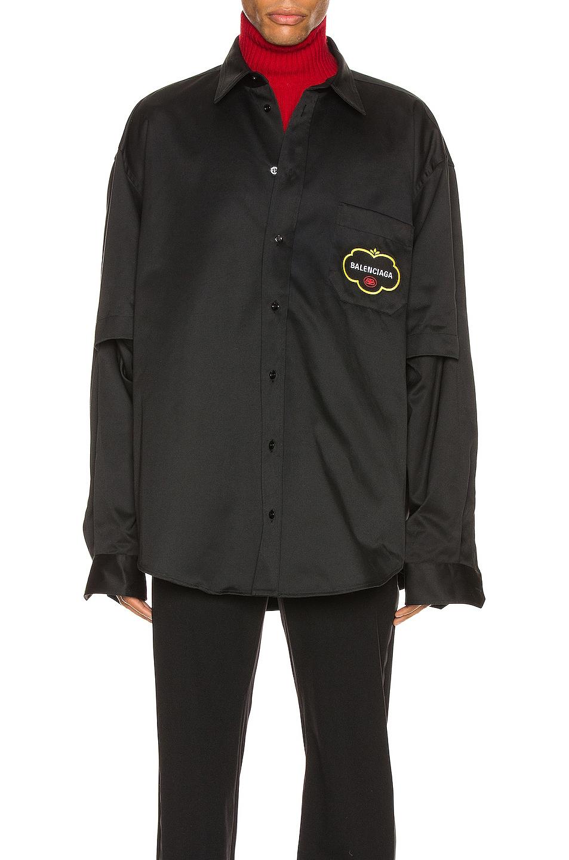 Image 3 of Balenciaga Double Sleeve Shirt in Black