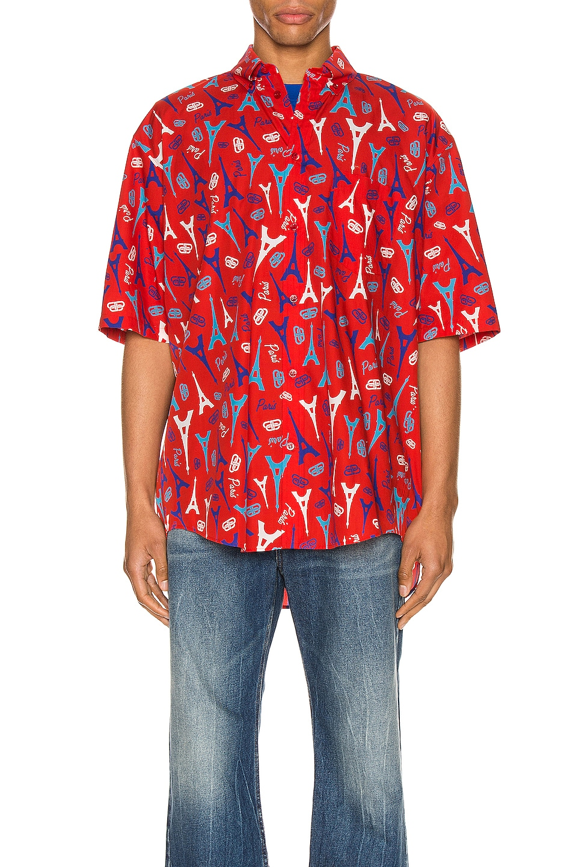 Image 1 of Balenciaga Short Sleeve Shirt in Red