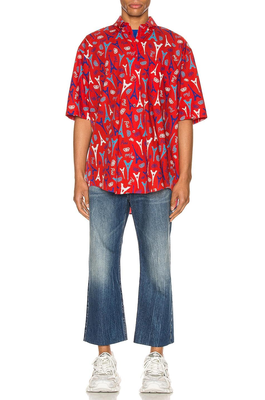 Image 4 of Balenciaga Short Sleeve Shirt in Red