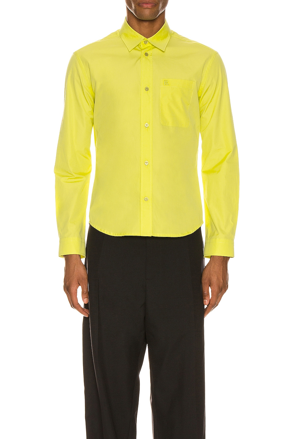 Image 1 of Balenciaga Fitted Shirt in Citrus Yellow