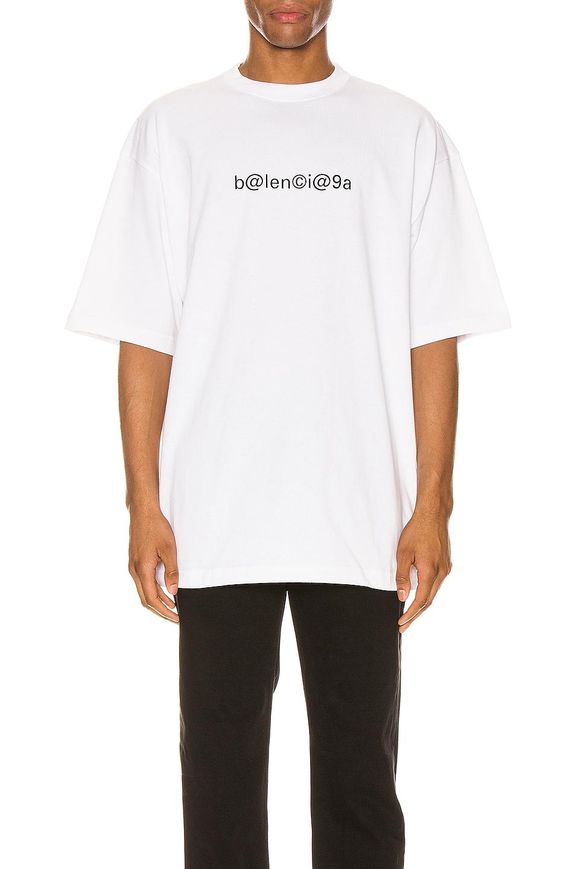 Image 1 of Balenciaga Short Sleeve Large Fit in White & Black