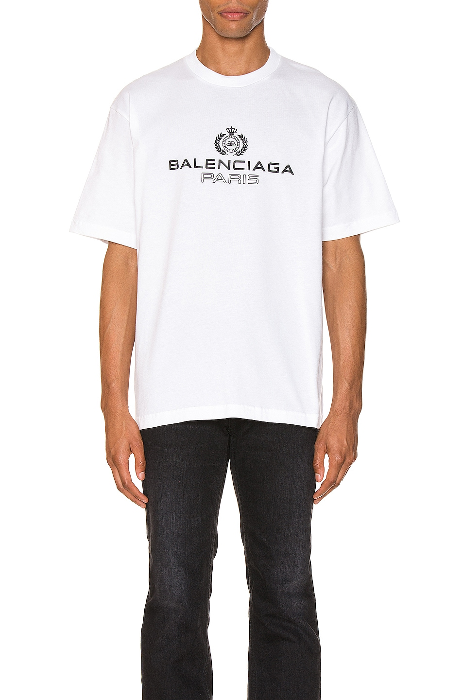 Image 1 of Balenciaga Paris Laurel Tee in White