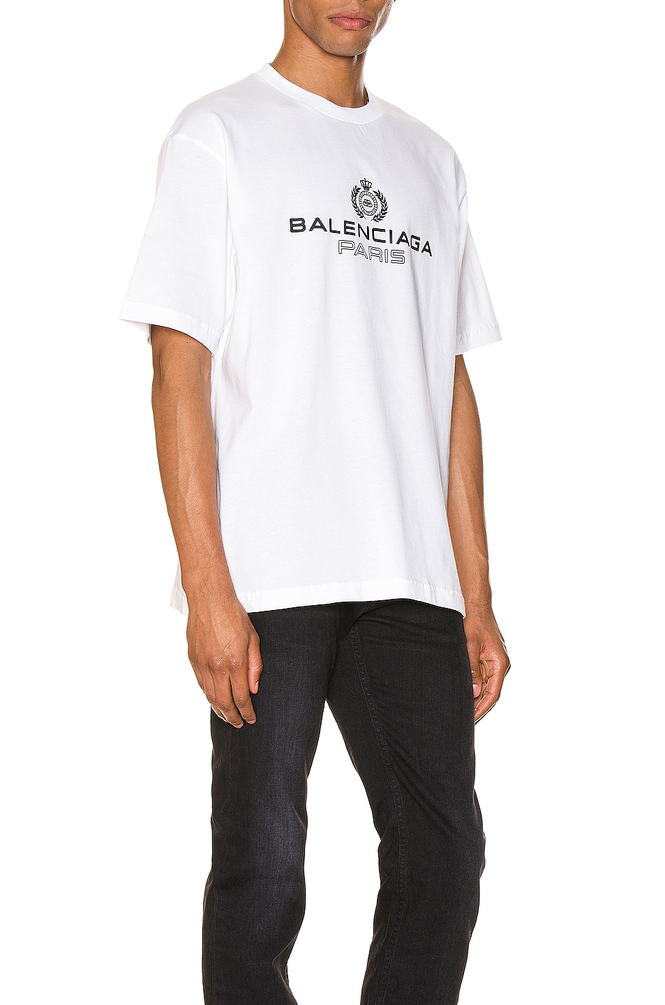 Image 2 of Balenciaga Paris Laurel Tee in White