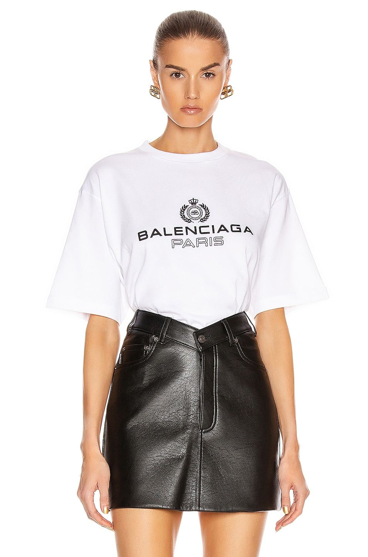 Image 1 of Balenciaga Paris Laurel Tee in White