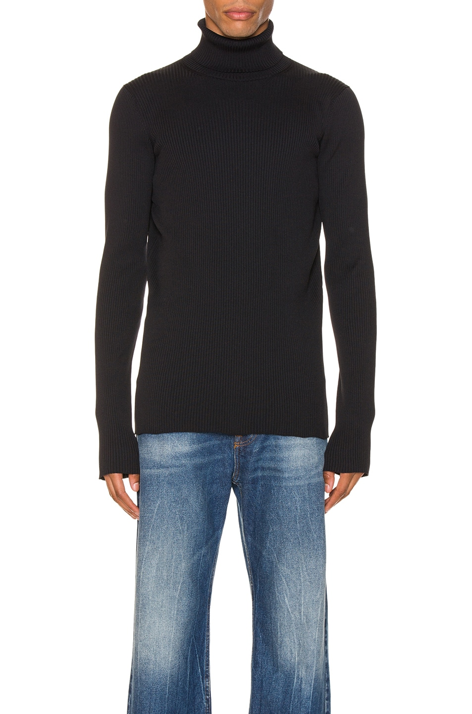 Image 1 of Balenciaga Long Sleeve Turtleneck in Black