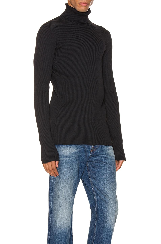 Image 2 of Balenciaga Long Sleeve Turtleneck in Black