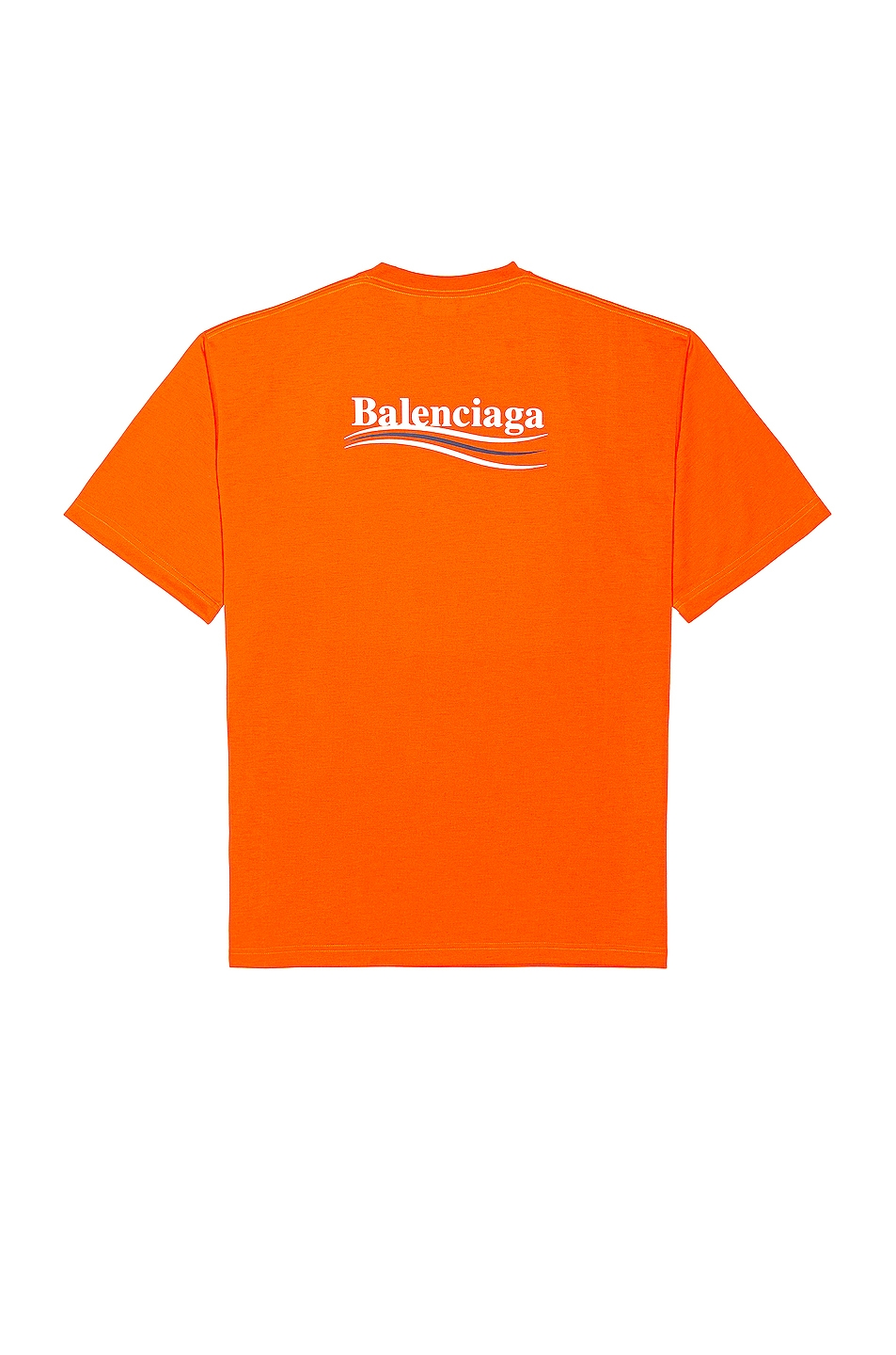 Image 1 of Balenciaga Large Fit Tee in Fluo Orange