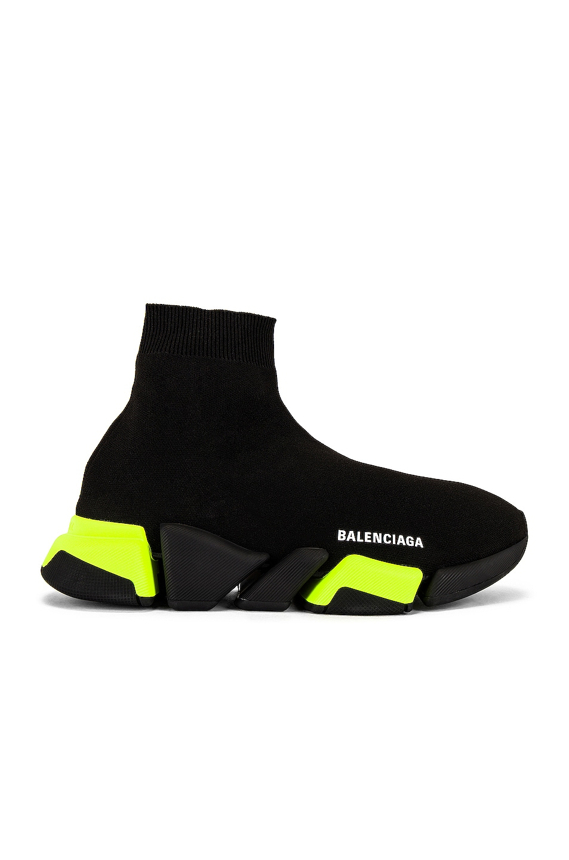 Image 1 of Balenciaga Speed.2 Lt in Black & Black & Yellow & Black