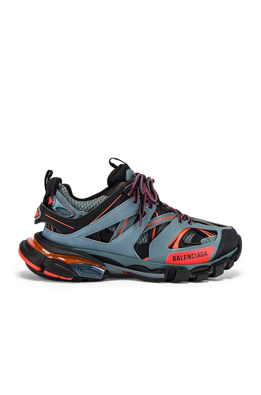 Image 2 of Balenciaga Track Sneaker in Dark Grey & Red & Black