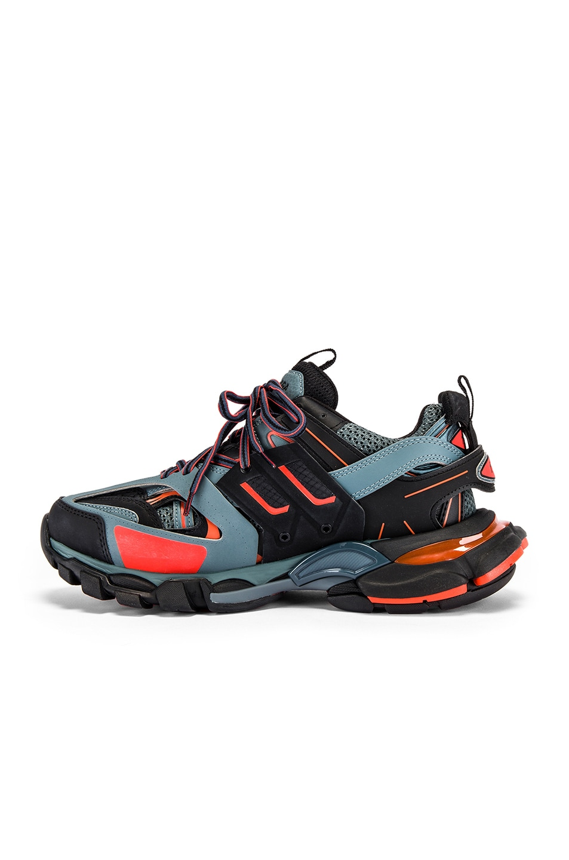 Image 5 of Balenciaga Track Sneaker in Dark Grey & Red & Black