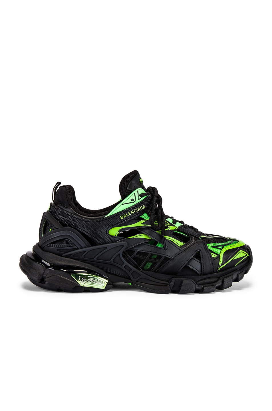 Image 2 of Balenciaga Track 2 Sneaker in Black & Green