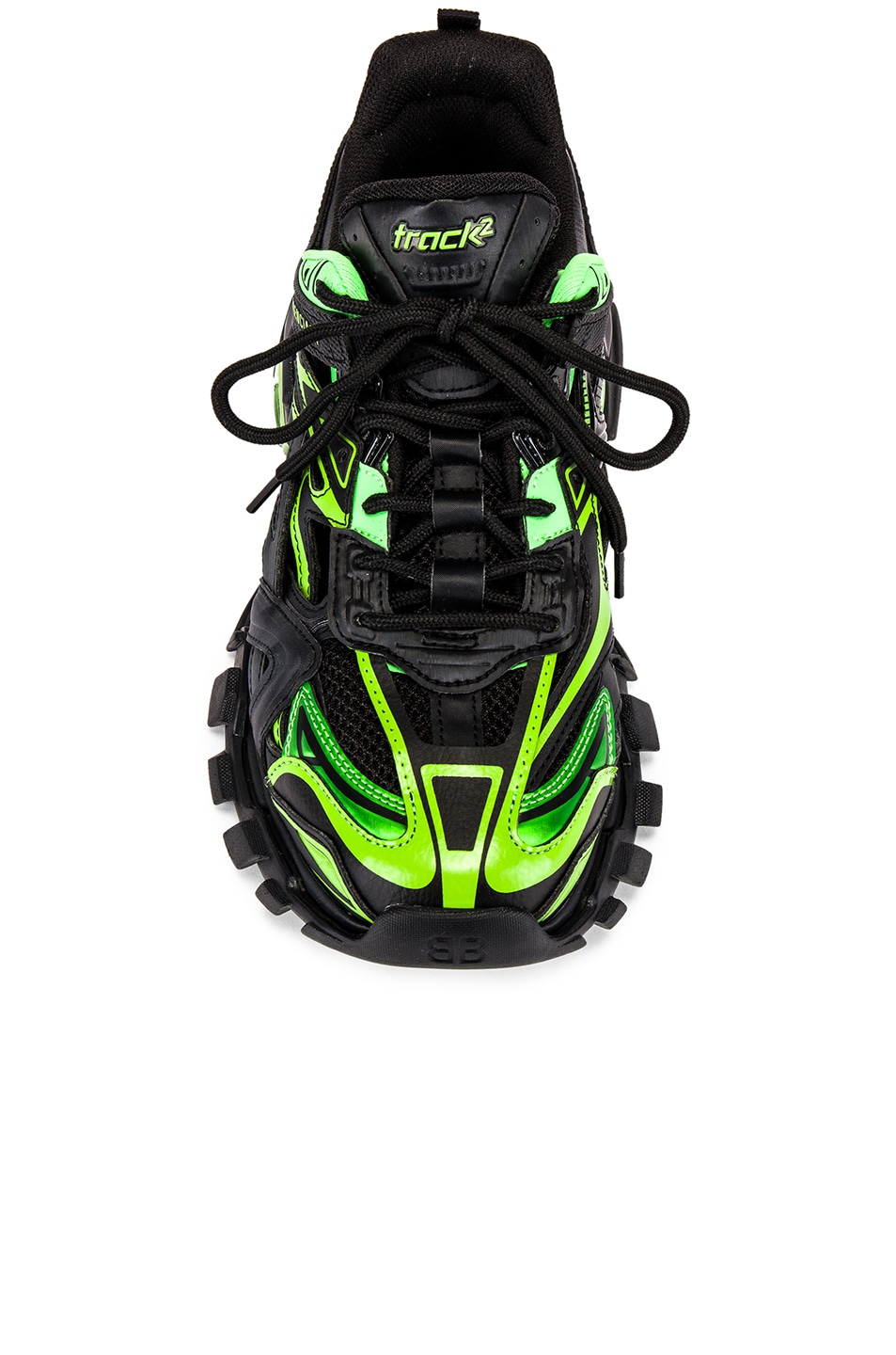Image 4 of Balenciaga Track 2 Sneaker in Black & Green