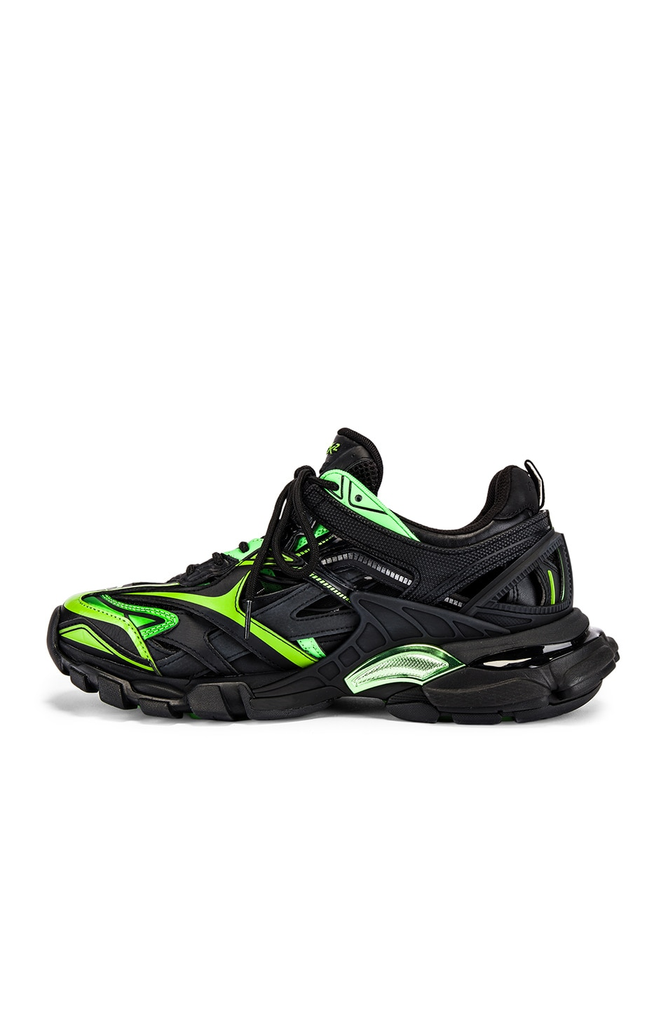 Image 5 of Balenciaga Track 2 Sneaker in Black & Green