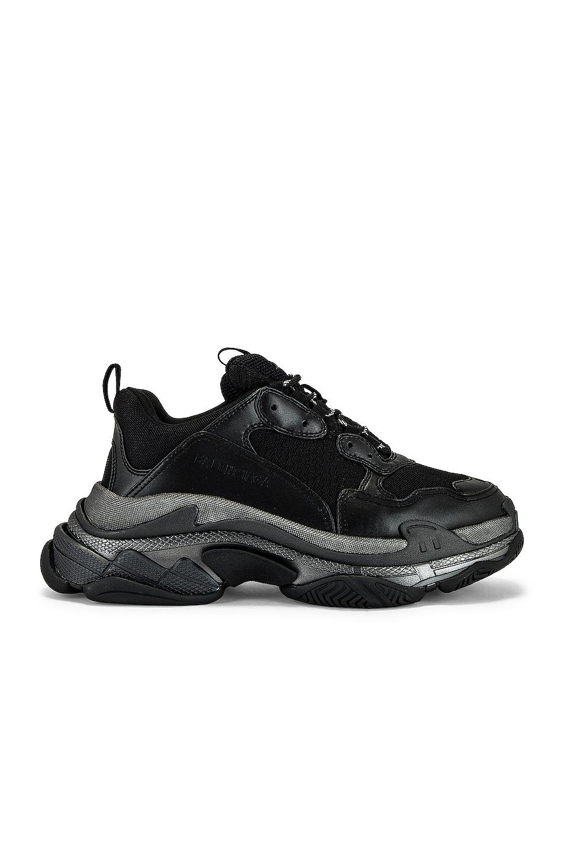 Image 1 of Balenciaga Triple S Sneaker in Black Metallic