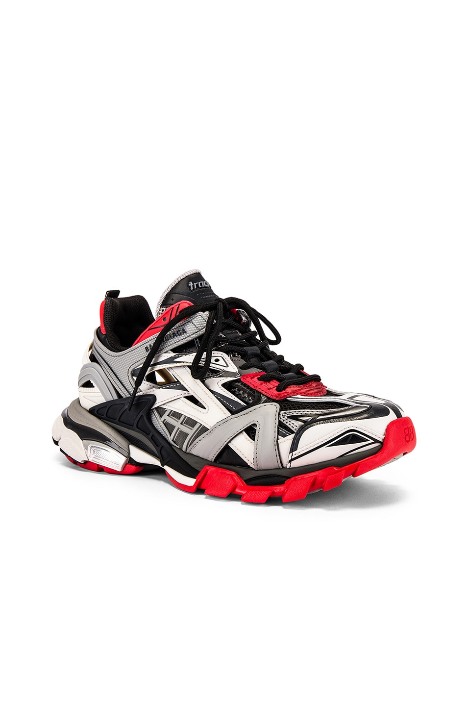 Image 1 of Balenciaga Track 2 Sneaker in Black & Grey & Red