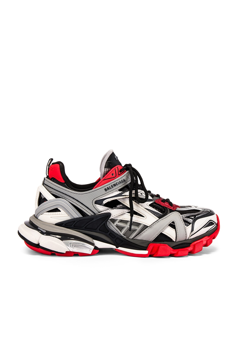 Image 2 of Balenciaga Track 2 Sneaker in Black & Grey & Red