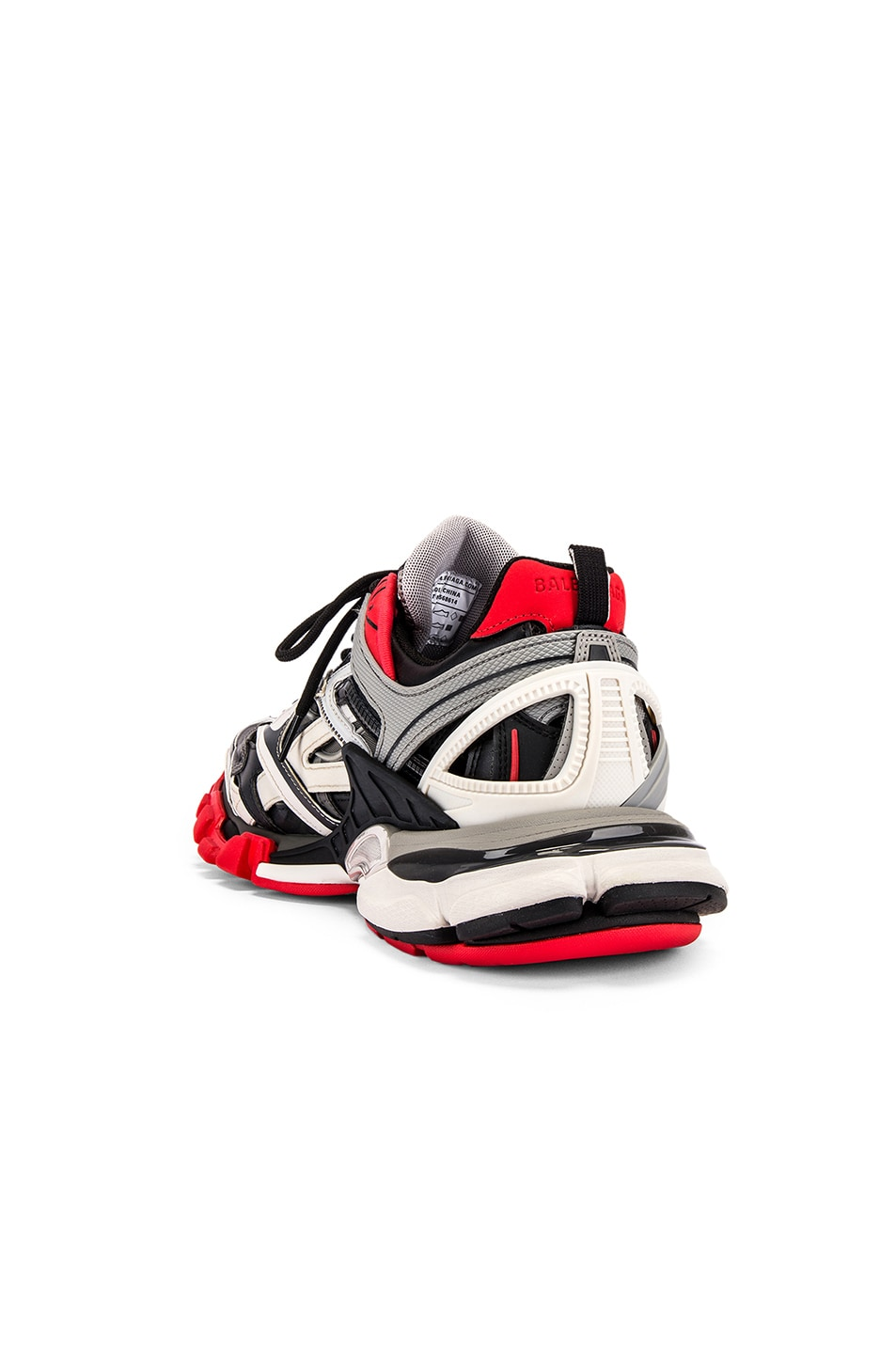 Image 3 of Balenciaga Track 2 Sneaker in Black & Grey & Red
