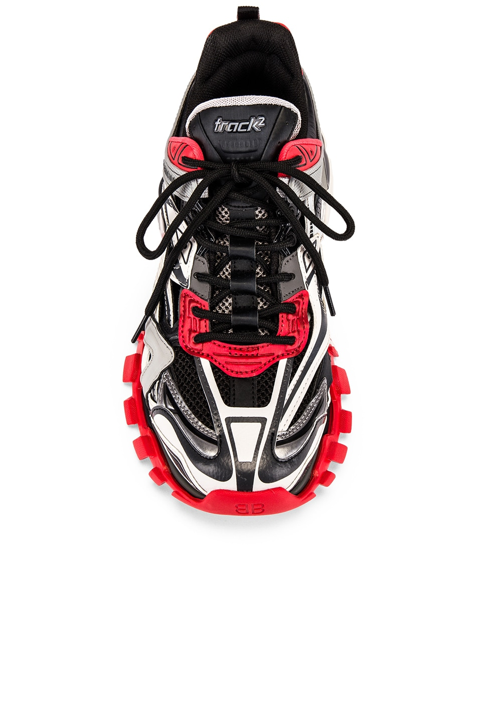 Image 4 of Balenciaga Track 2 Sneaker in Black & Grey & Red
