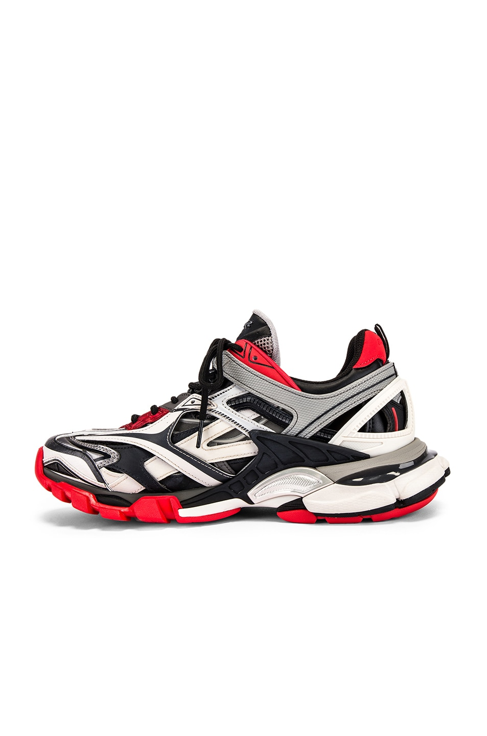 Image 5 of Balenciaga Track 2 Sneaker in Black & Grey & Red