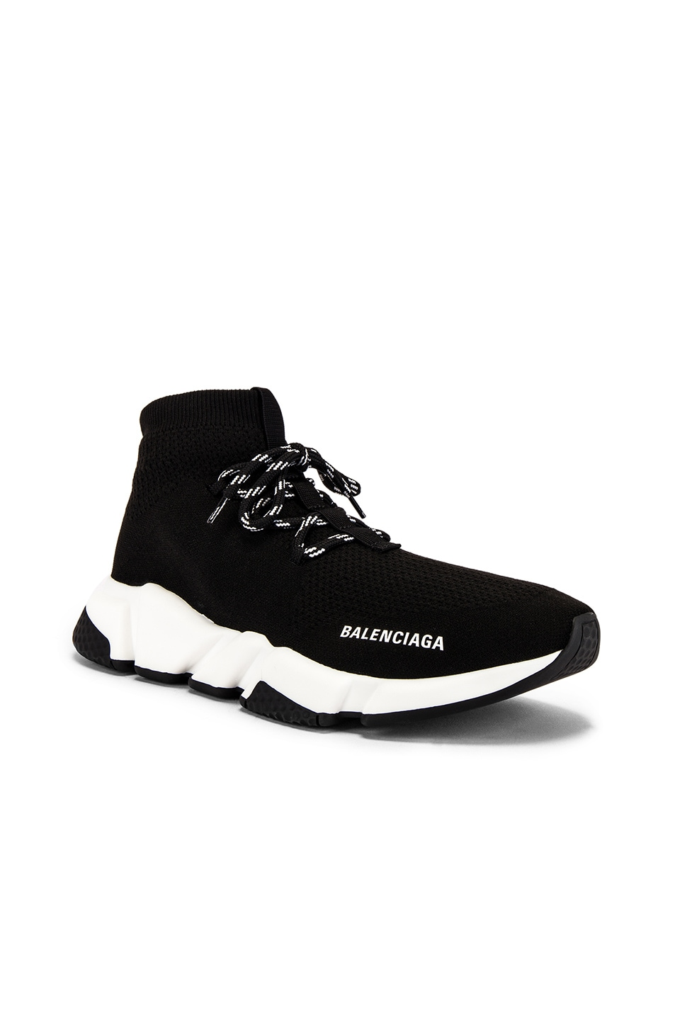 Image 1 of Balenciaga Speed Light Lace-Up Sneaker in Black