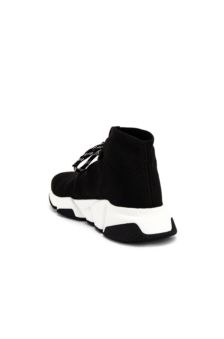 Image 3 of Balenciaga Speed Light Lace-Up Sneaker in Black