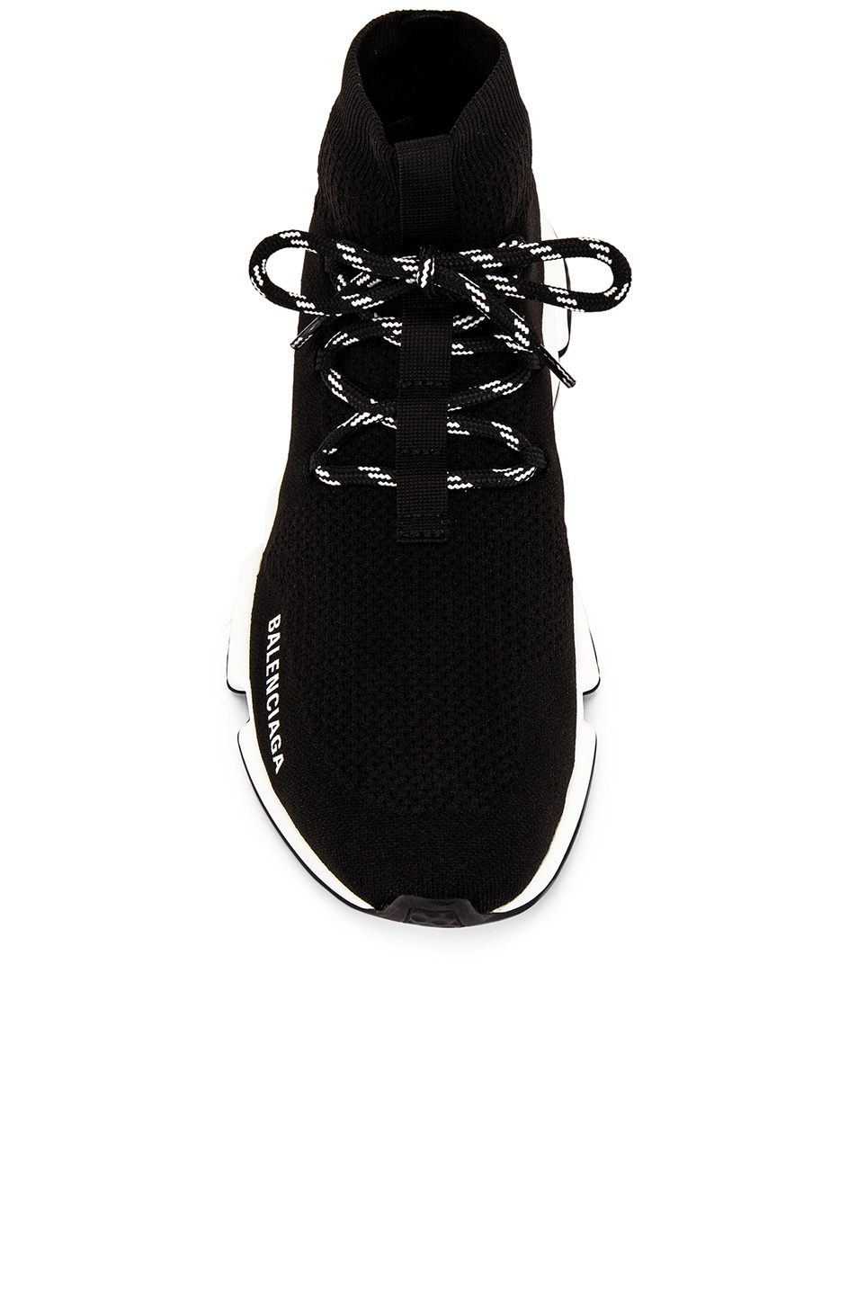 Image 4 of Balenciaga Speed Light Lace-Up Sneaker in Black