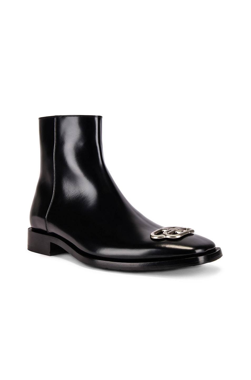 Image 1 of Balenciaga Rim Bootie in Black & Nikel