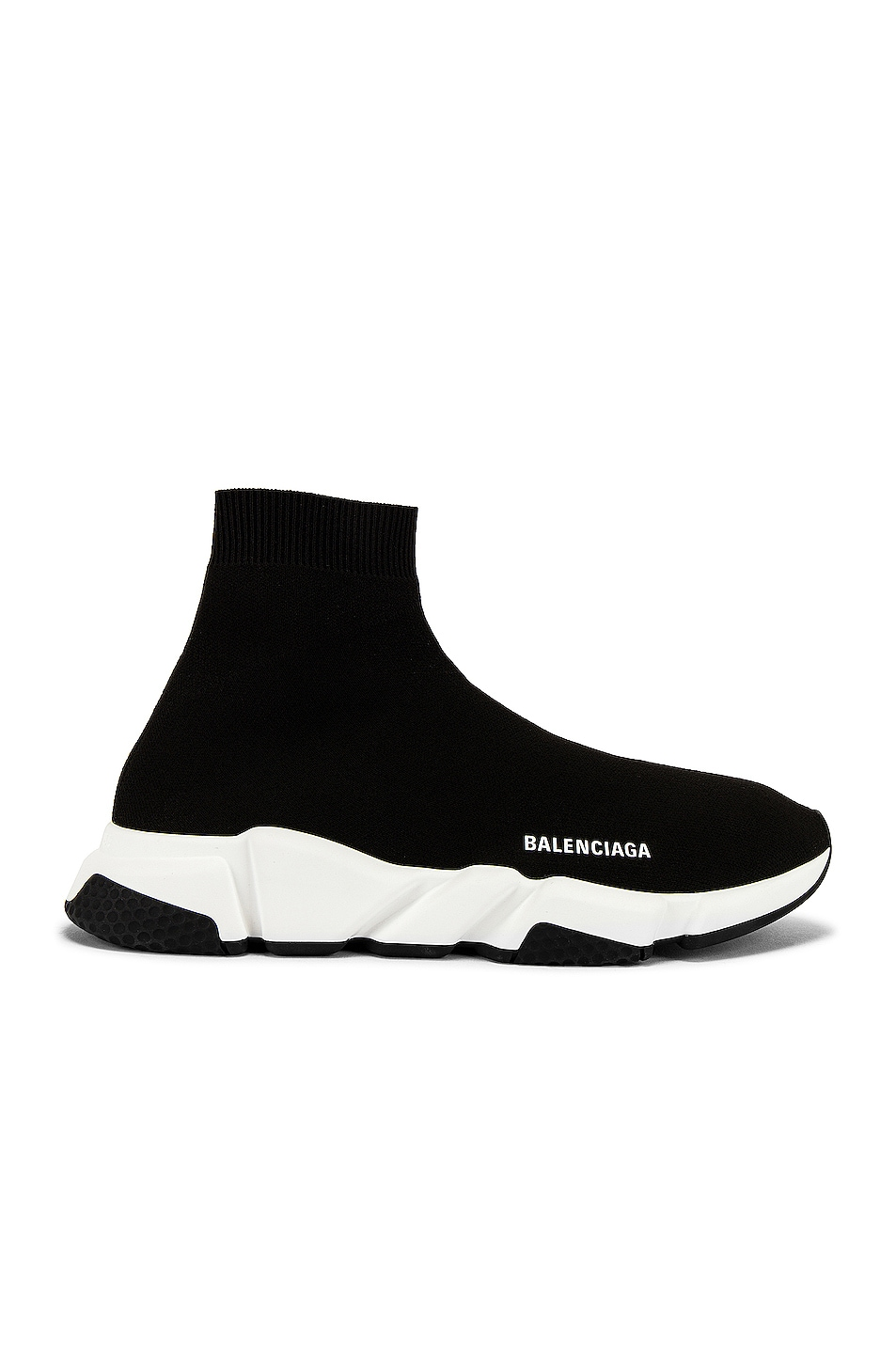 Image 1 of Balenciaga Speed Light Knit Sneaker in Black & White