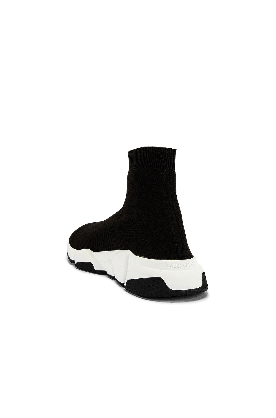 Image 3 of Balenciaga Speed Light Knit Sneaker in Black & White
