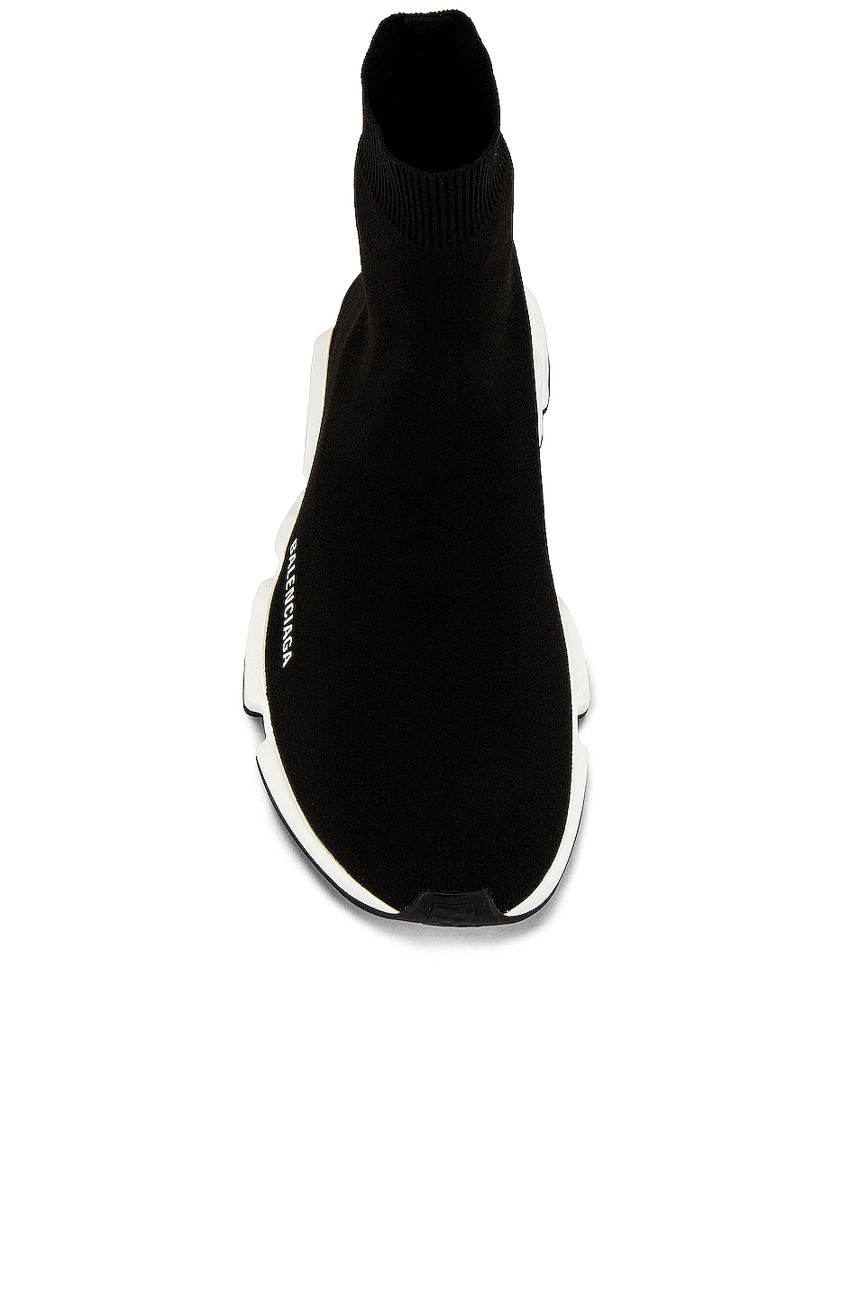Image 4 of Balenciaga Speed Light Knit Sneaker in Black & White