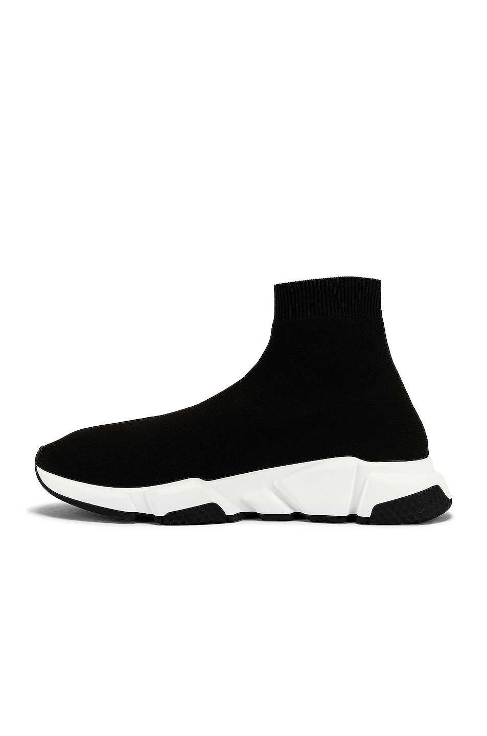 Image 5 of Balenciaga Speed Light Knit Sneaker in Black & White