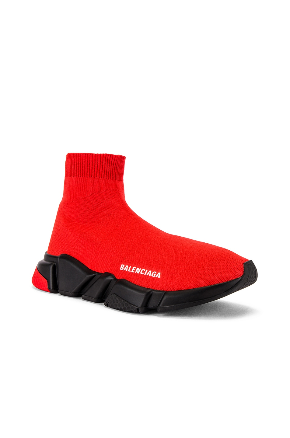 Image 1 of Balenciaga Speed Light Knit Sneaker in Red