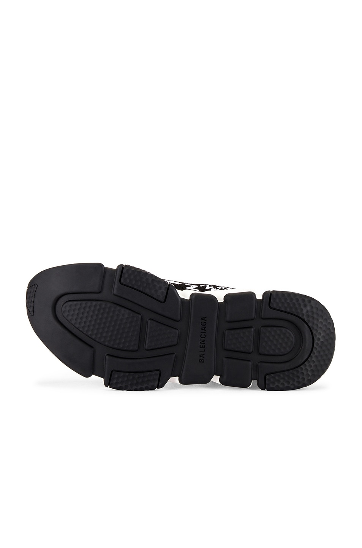 Image 6 of Balenciaga Paris Bonjour Speed Light Knit Sneaker in Black