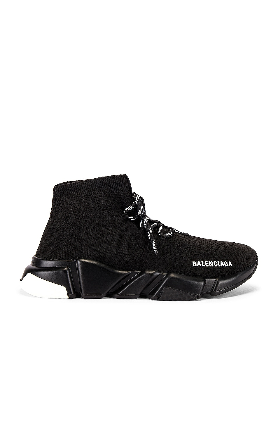 Image 2 of Balenciaga Speed Light Lace-Up Sneaker in Black
