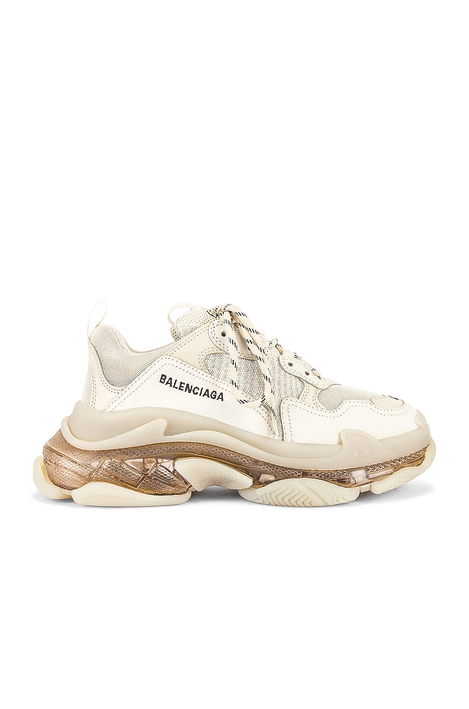 Image 2 of Balenciaga Triple S Clear Sole in Off White