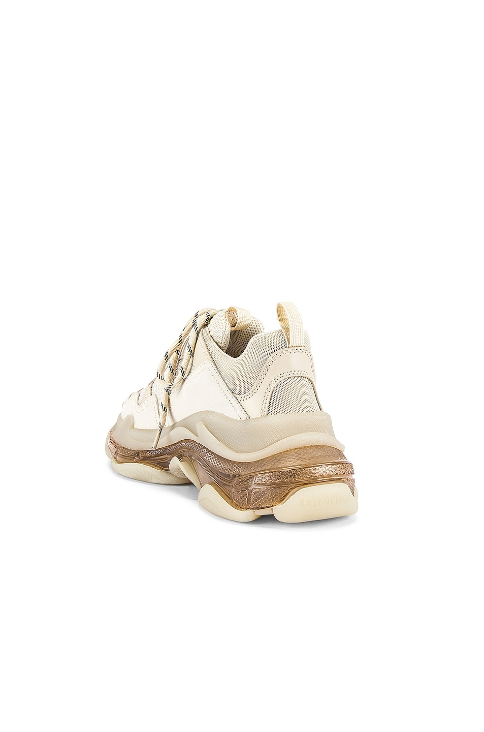 Image 3 of Balenciaga Triple S Clear Sole in Off White