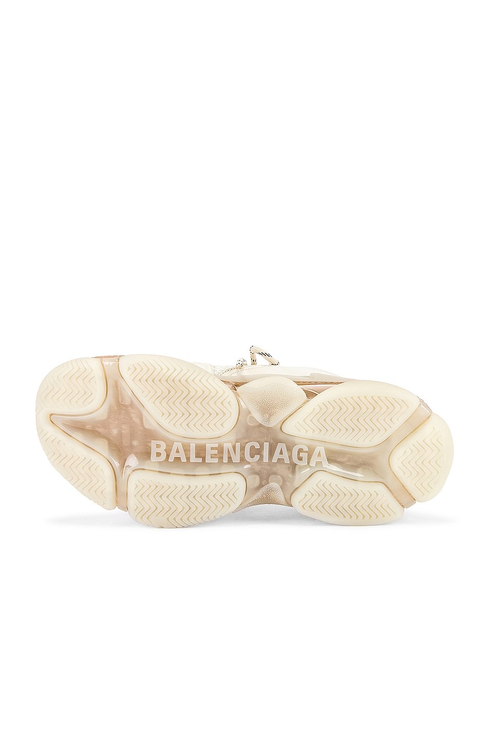 Image 6 of Balenciaga Triple S Clear Sole in Off White