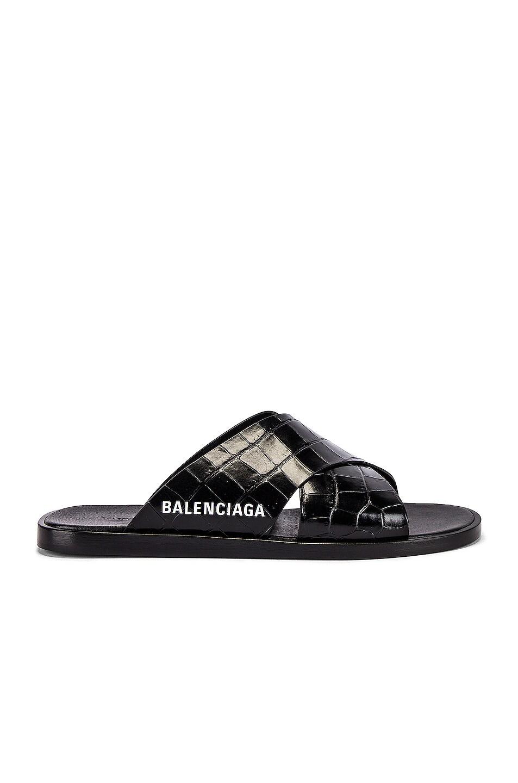 Image 1 of Balenciaga Cosy Mule F005 in Black & White