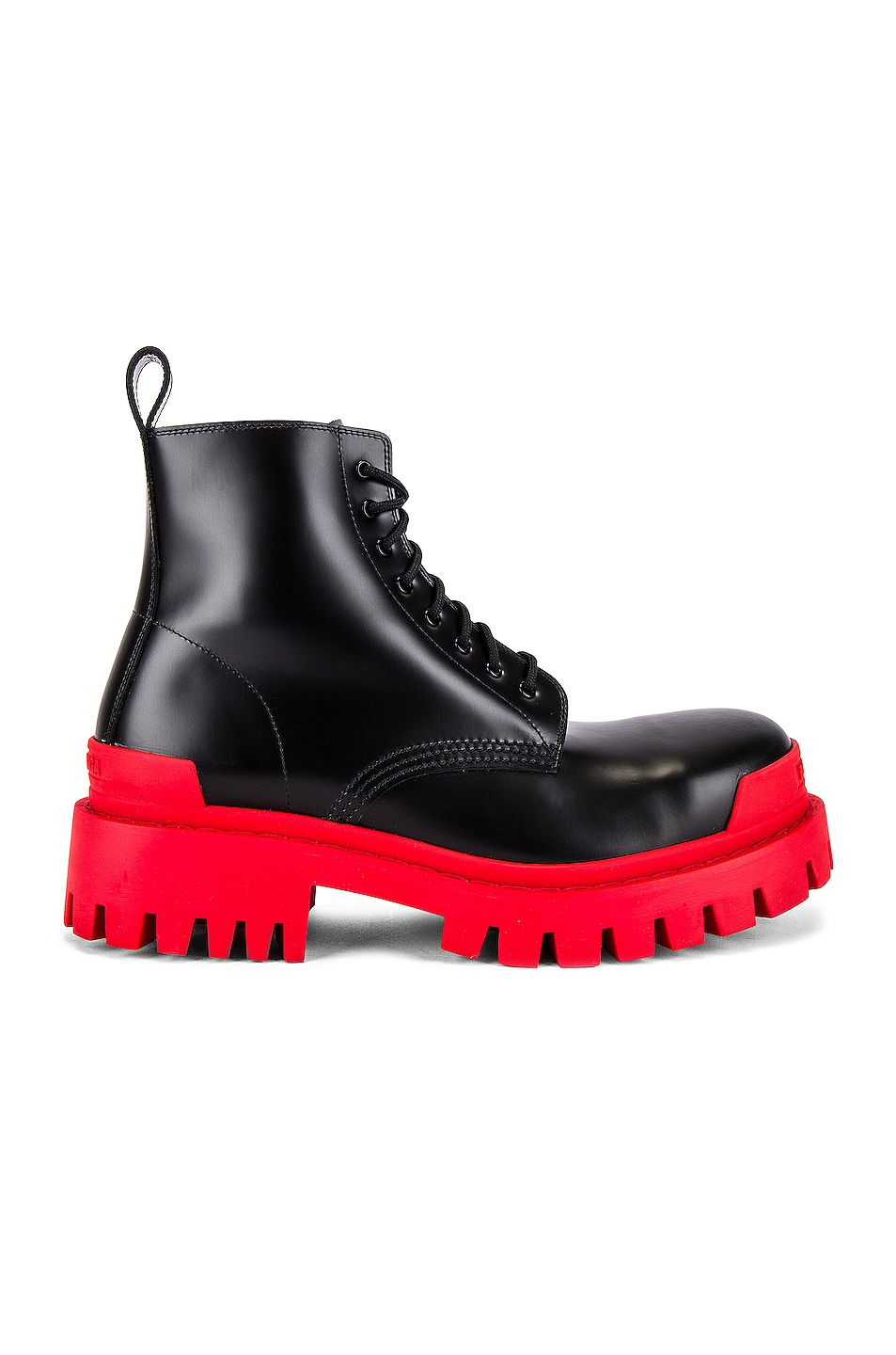 Image 1 of Balenciaga Strike Bootie L20 in Black & Red