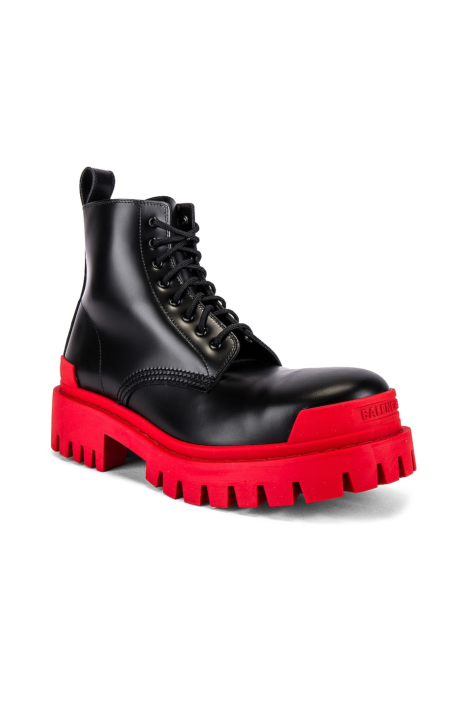 Image 2 of Balenciaga Strike Bootie L20 in Black & Red